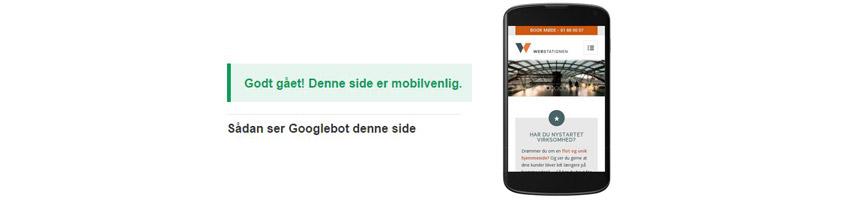 Mobilvenlige websider favoriseres af Google