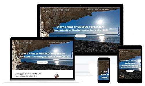 Oplevstevns.dk - Hjemmeside lavet af WEBstationen.dk