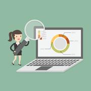 Viser gennemgang af tilstandsrapport for din hjemmeside via Skype